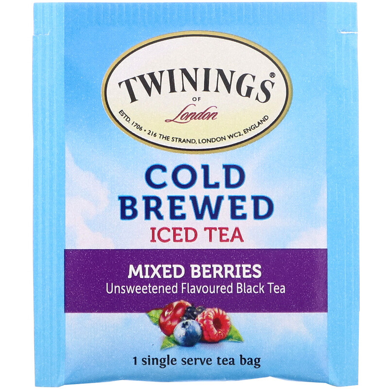 Twinings, Cold Brewed Iced Tea, Mixed Berries, 20 Tea Bags, 1.41 oz (40 g) - photo 2