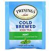Twinings, Thé glacé infusé à froid, Thé vert aromatisé non sucré, Menthe, 20sachets de thé en portions individuelles, 40g