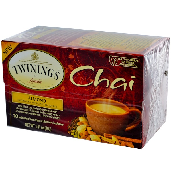Twinings, Chai, Almond, 20 Tea Bags, 1.41 oz (40 g) (Discontinued Item)