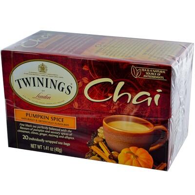 цена на Chai, чай со специями, пикантная тыква, 20чайных пакетиков, 40г (1,41унции)