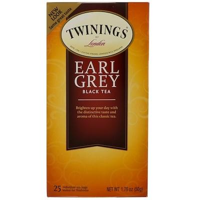 """Классический чай """"Эрл Грей"""", 25 пакетиков, 1.76 унций (50 г)"""