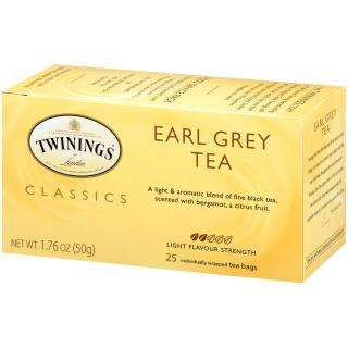 Twinings, Classics, Earl Grey Tea, 25 Tea Bags, 1.76 oz (50 g)