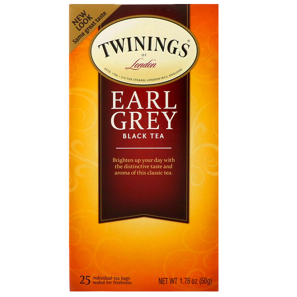 Earl Grey Black Tea, 25 Tea Bags, 1.76 oz (50 g)