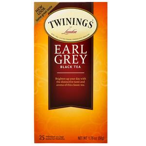 Твайнингс, Earl Grey Black Tea, 25 Tea Bags, 1.76 oz (50 g) отзывы покупателей