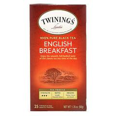 Twinings, 全純紅茶,英式早餐,25 茶包,1.76 盎司(50 克)
