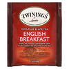 Twinings, 100% Pure Black Tea, English Breakfast, 25 Tea Bags, 1.76 oz (50 g)