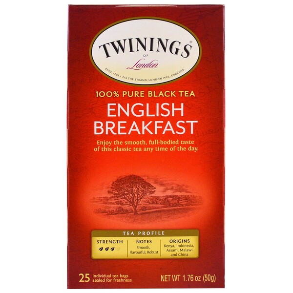 English Breakfast Tea, 25 Individual Tea Bags, 1.76 oz (50 g)