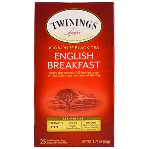 Твайнингс, English Breakfast Tea, 25 Individual Tea Bags, 1.76 oz (50 g) отзывы покупателей