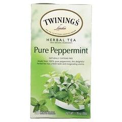Twinings, 零咖啡萃取純薄荷草本茶,25 袋裝,1.76 盎司(50 克)