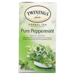 Twinings, Té de hierbas, Menta pura, Sin cafeína, 25bolsitas de té, 50g (1,76oz)