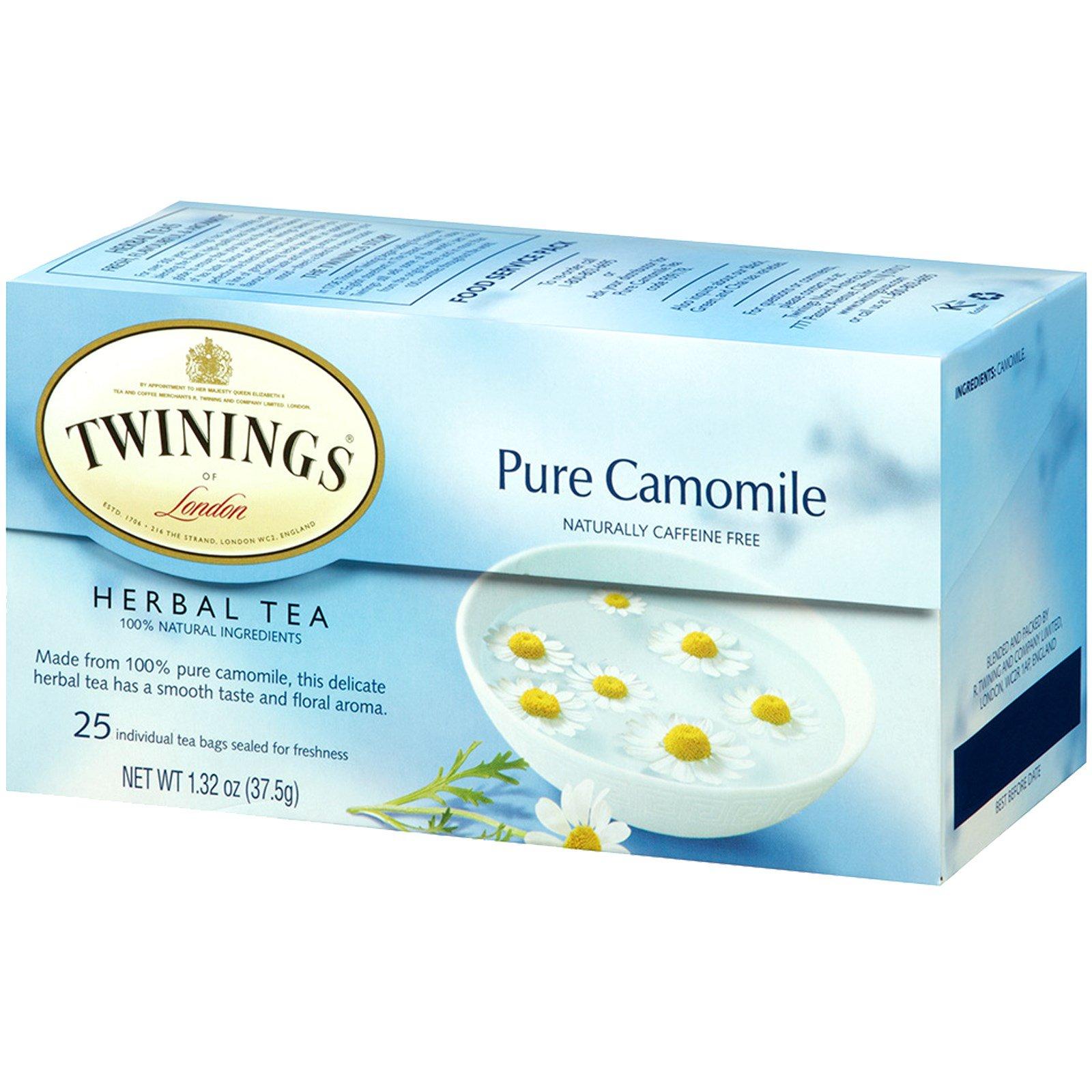 Twinings Herbal Tea Pure Camomile Caffeine Free 25 Bags 1 32