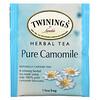 Twinings, травяной чай, чистая ромашка, без кофеина, 25чайных пакетиков, 37г (1,32унции)