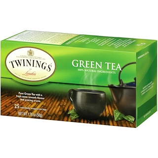 Twinings, Green Tea, 25 Tea Bags, 1.76 oz (50 g)