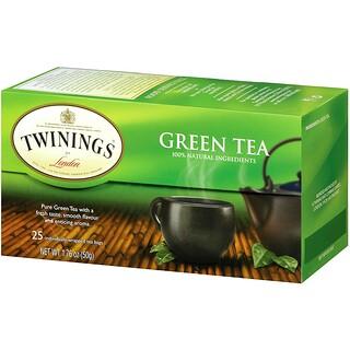 Twinings, 綠茶,25茶包,1.76盎司(50克)