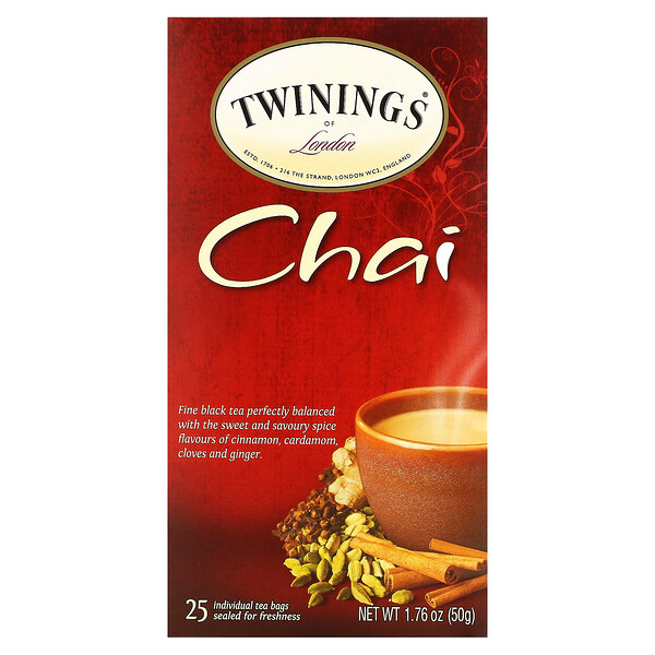印度茶,25 茶包,1.76 盎司(50 克)