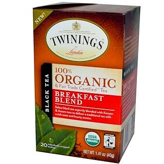 Twinings, 100%有機早餐紅茶,20茶包,1.41盎司(40克)