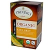 Twinings, Organic Black Tea, Earl Grey, 20 Tea Bags, 1.27 oz (36 g)