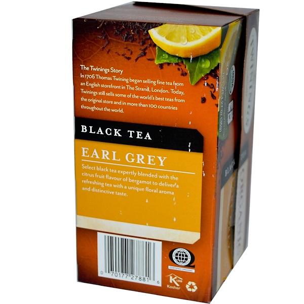 Twinings, Organic Black Tea, Earl Grey, 20 Tea Bags, 1.27 oz (36 g)