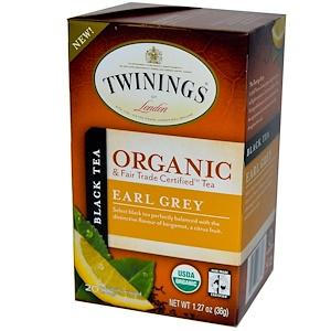 Твайнингс, Organic Black Tea, Earl Grey, 20 Tea Bags, 1.27 oz (36 g) отзывы покупателей