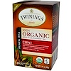 Twinings, 100% Organic Black Tea, Chai, 20 Tea Bags, 1.41 oz (40 g)