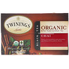 Twinings, Organic Black Tea, Chai, 20 Tea Bags, 1.41 oz (40 g)