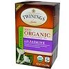 Twinings, 100% Органический зеленый чай с жасмином, 20 пакетиков, 1,41 унции (40 г)