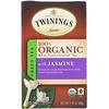 Twinings, 100% オーガニック ジャスミン入り緑茶, 20 ティーバッグ, 1.41 オンス (40 g)