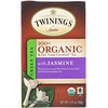 Twinings, 100% 오가닉 그린 티 with 자스민, 20 티백, 1.41 온스 (40 g)