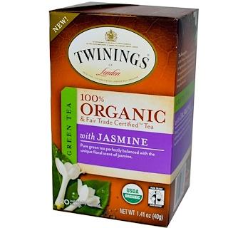 Twinings, 100%有機茉莉花茶,20袋,1.41盎司(40克)