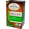Twinings, 민트가 가미된 유기농 녹차, 20 티백, 1.27 oz (36 g)