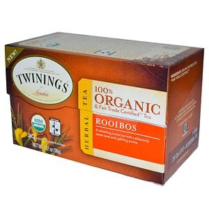 Твайнингс, Organic Herbal Tea, Rooibos, 20 Tea Bags, 1.27 oz (36 g) отзывы покупателей