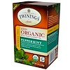 Twinings, 100% Organic Herbal Tea, Peppermint, 20 Tea Bags, 1.41 oz (40 g)