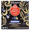Two Moms in the Raw, Soul Sprout, Granola Bars, Bring On The Blueberry, 6 Bars, 1 oz (28 g) Each
