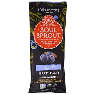 Two Moms in the Raw, Soul Sprout, Blueberry Burst Nut Bar, 1.5 oz (43 g)