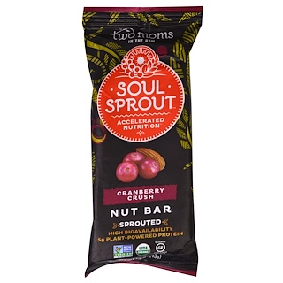Two Moms in the Raw, Soul Sprout, Nut Bar, Cranberry Crush, 1.5 oz (43 g)