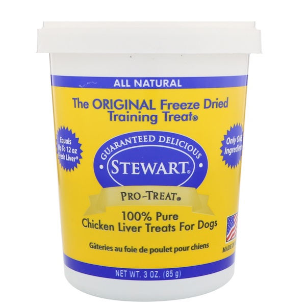 Stewart, Pro-Treat, Freeze Dried Treats, For Dogs, Chicken Liver, 3 oz (85 g) (Discontinued Item)