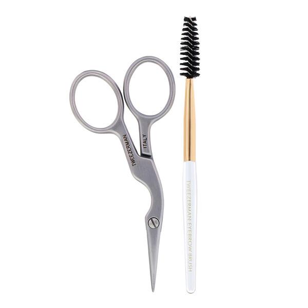 Tweezerman, Brow Shaping Scissors & Brush, 1 Count