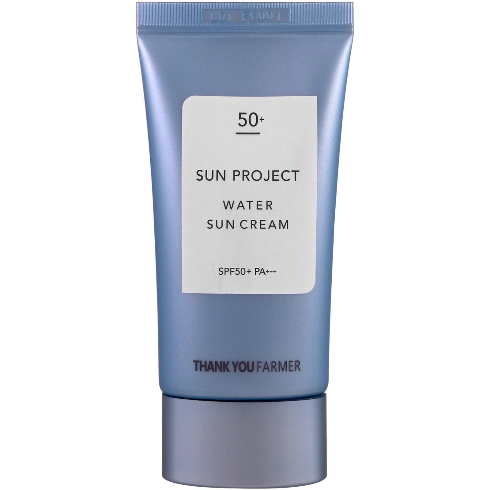 Thank You Farmer, Sun Project, Водостойкий солнцезащитный крем, солнцезащитный фактор SPF 50+, 50 мл (1,75 унций)