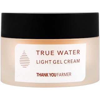 Thank You Farmer, True Water, Light Gel Cream, All Skin Types, 1.75 fl oz (50 ml)