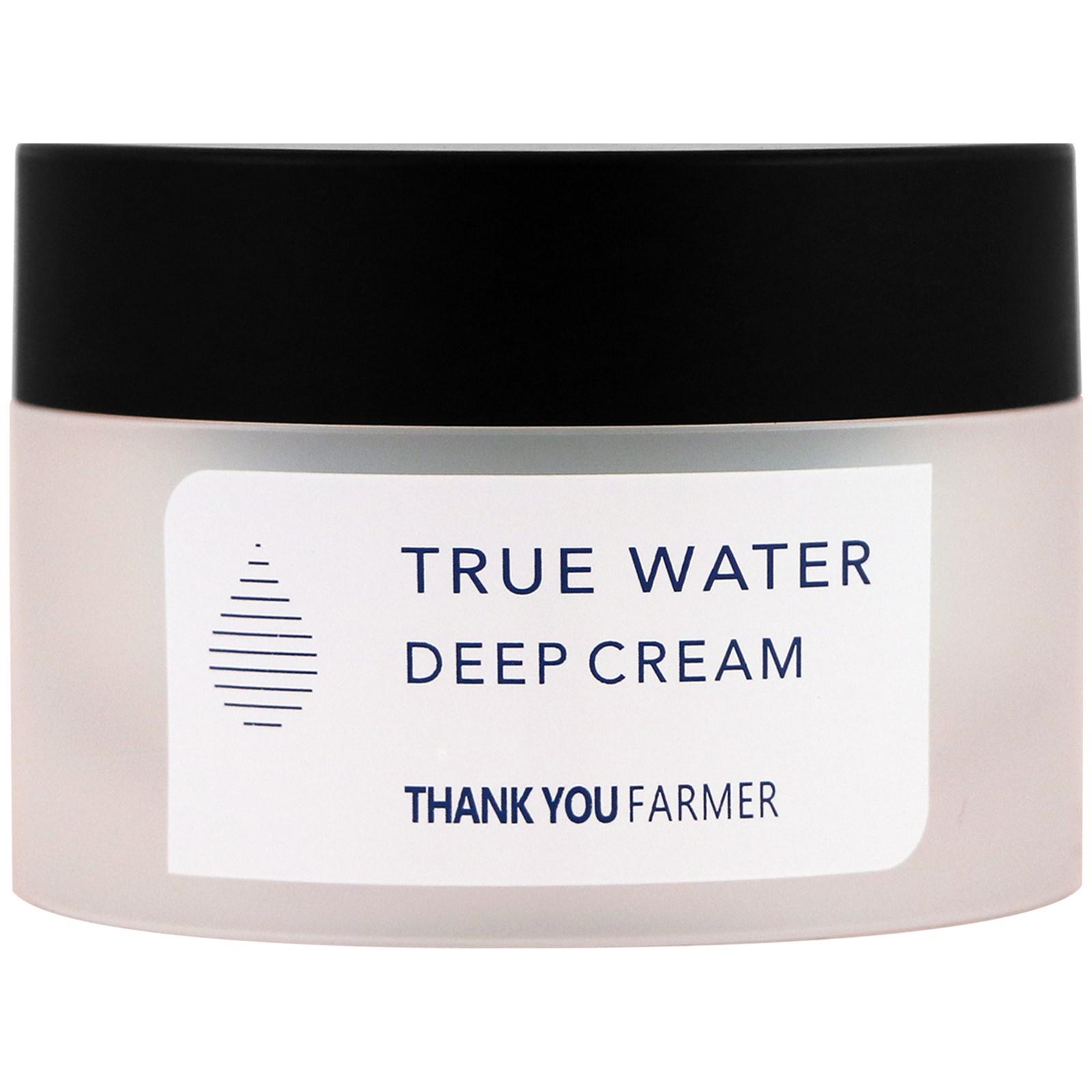 Thank You Farmer, Настоящая вода, глубоко увлажняющий крем, 1,75 жидк. унц. (50 мл)