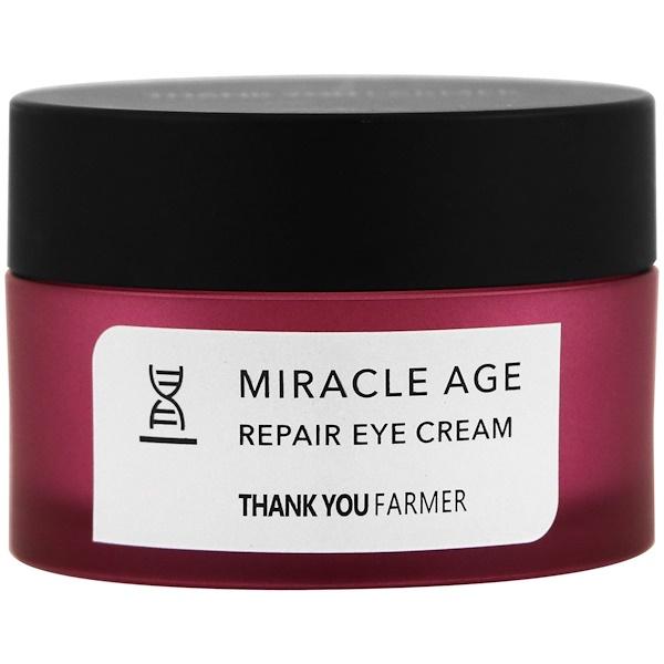 Thank You Farmer, Miracle Age, Repair Eye Cream, .70 oz (20 g) (Discontinued Item)