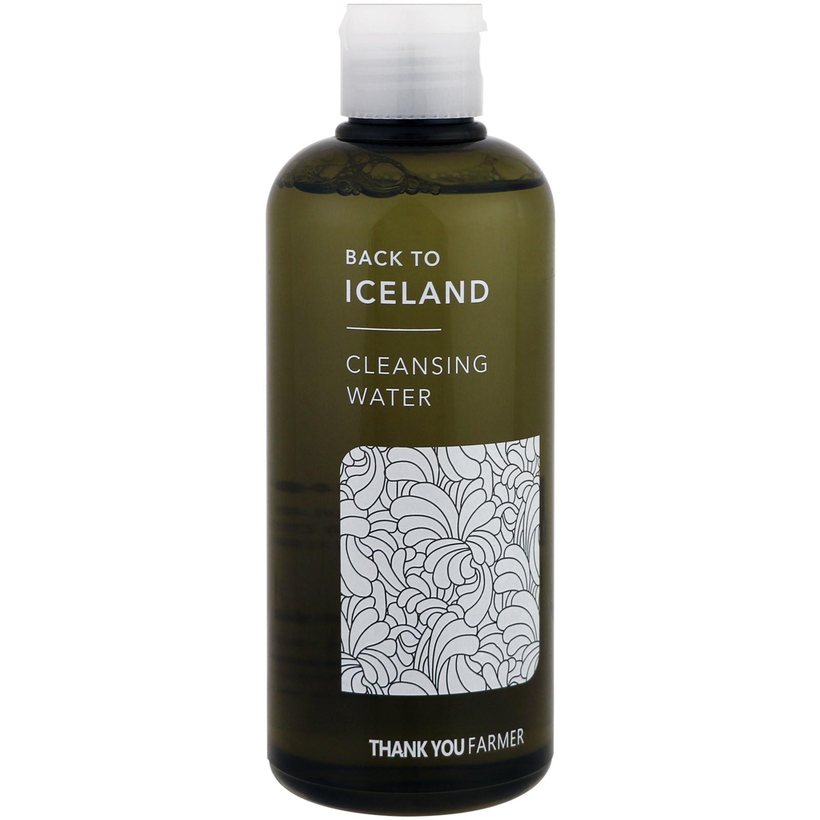 Thank You Farmer, Back to Iceland, Cleansing Water , 9.15 fl oz(pack of 4) Hawaiian Pineapple Enzyme Facial Scrub Alba Botanica 4 oz Liquid