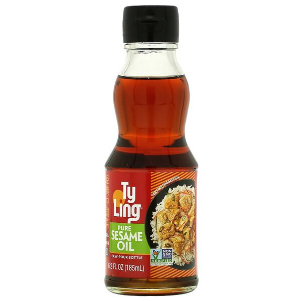Pure Sesame Oil, 6.2 fl oz ( 185 ml)
