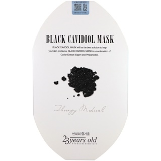 23 Years Old, Black Cavidiol Mask, 1 Sheet