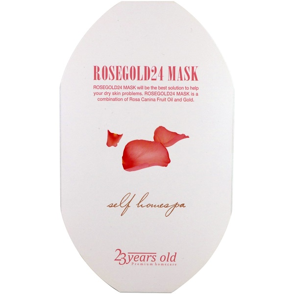 23 Years Old, Rosegold24 Mask, 1 Sheet (Discontinued Item)