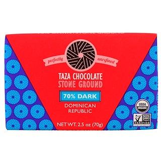 Taza Chocolate, Organic, 70% Dark Stone Ground Chocolate Bar, Dominican Republic, 2.5 oz (70 g)