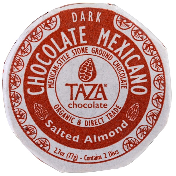 Taza Chocolate, Chocolate Mexicano, Salted Almond, 2 Discs (Discontinued Item)