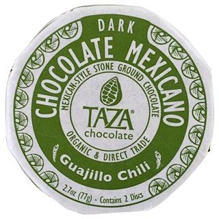 Taza Chocolate, شوكولا مكسيكية، فلفل كواجيلو، 2 قرصين