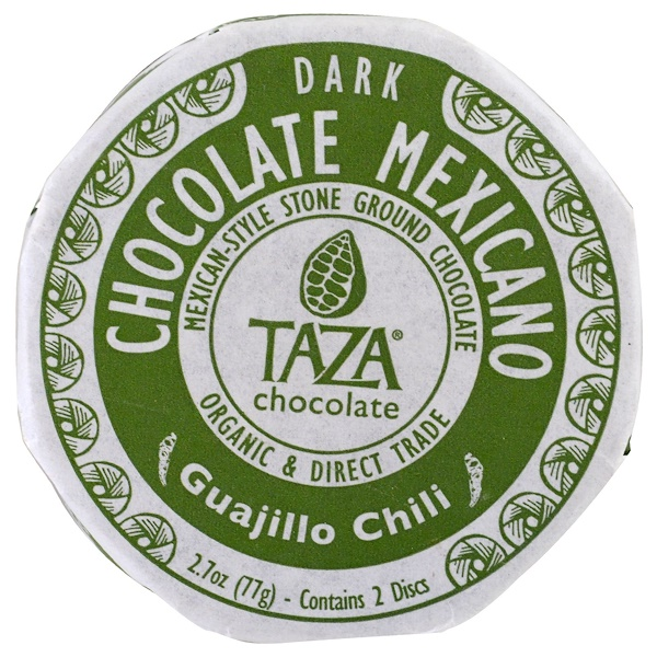 Taza Chocolate, Chocolate Mexicano, Guajillo Chili, 2 Discs