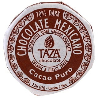Taza Chocolate, Мексиканский шоколад, чистый какао, 2 диска